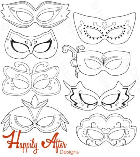printable masquerade stencils masquerade mask template coloring pages