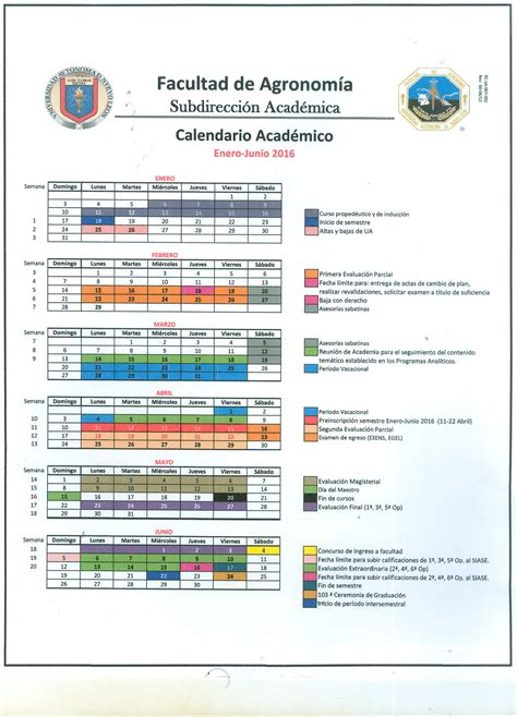 Calendario Tec 2017 Facultad De Agronom 237 A Quot Unidos Con Visi 243 N Por La