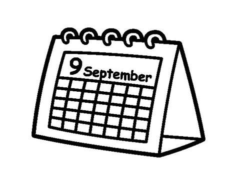 Calendario Para Colorear Dibujo De Calendario De Mesa Para Colorear Dibujos Net