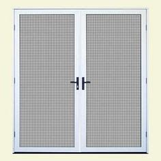 bug instant screen door with magnetic closure for a