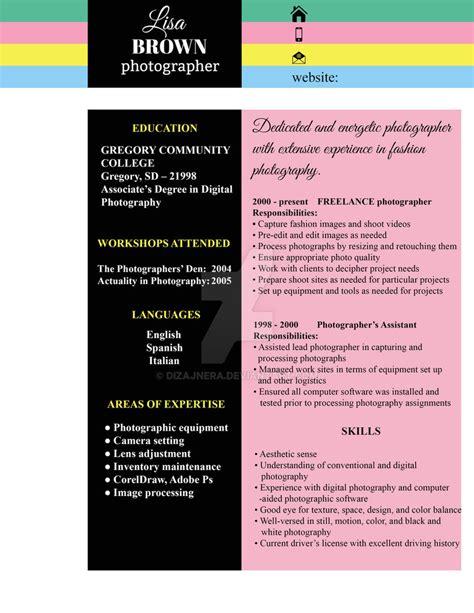 original resume design by dizajnera on deviantart