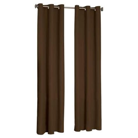 curtains 63 length eclipse microfiber blackout chocolate grommet curtain