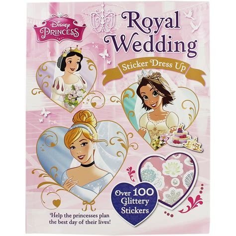 a princess books disney princess royal wedding sticker dress up by disney