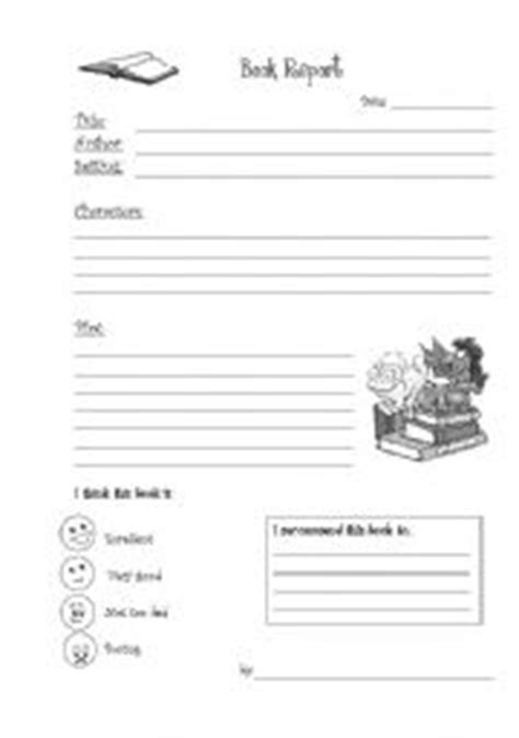 structure of a book report book report in