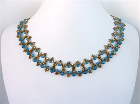 free beading pattern for necklace zipper lace