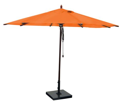 Orange Patio Umbrella Mahogany Outdoor Patio Umbrella Orange Contemporary Outdoor Umbrellas By Greencorner