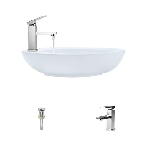 mr direct sinks and faucets mr direct porcelain vessel sink in white with 720 faucet