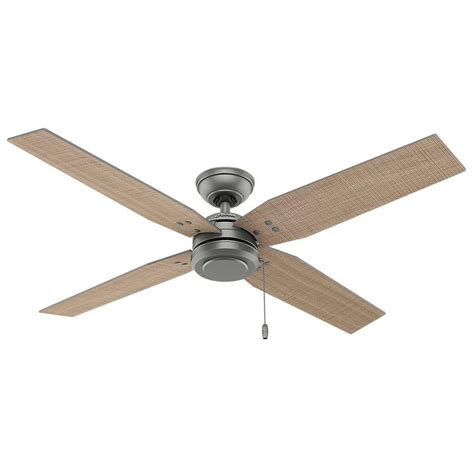 indoor outdoor ceiling fans commerce 54 in indoor outdoor matte silver ceiling