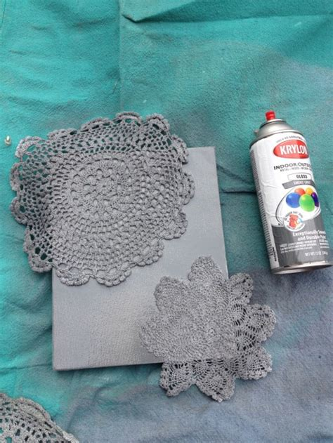 spray paint in canvas tutorial 7 spray painted doily canvas shey b