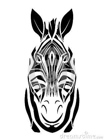 zebra tattoo prices zebra head tattoo stock vector image 47879509