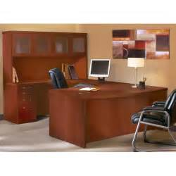 U Desk With Hutch Mayline Aberdeen Series U Shape Executive Desk With Hutch Reviews Wayfair