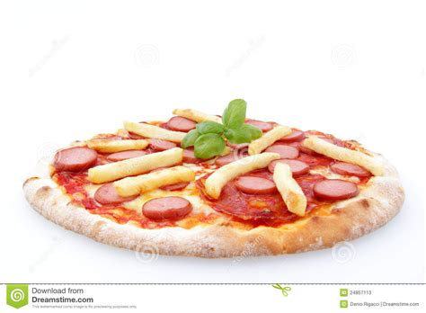 dogs and fries pizza dogs and fries stock photos image 24857113