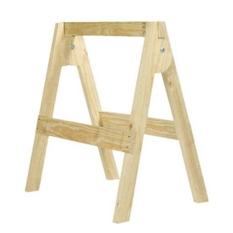 belknap hill trading post folding wood sawhorse kit 163392