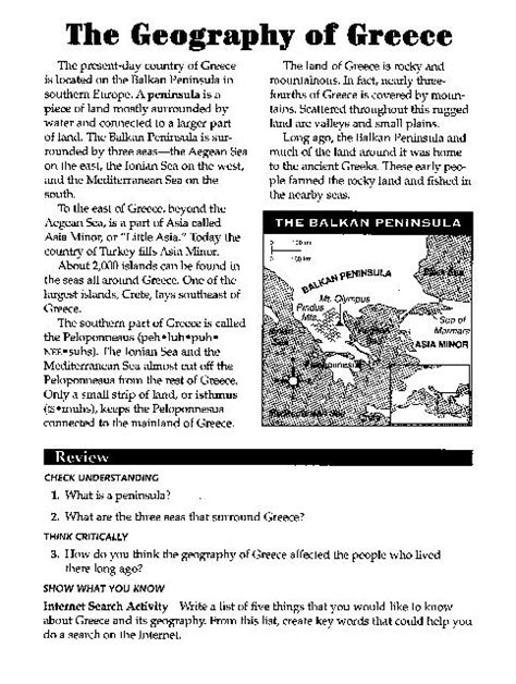 Ancient Greece Worksheet by 28 Ancient Greece Map Worksheet Answers Ancient