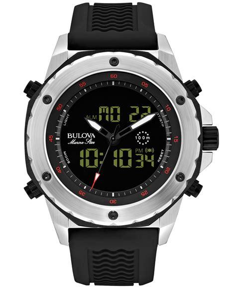 bulova s analog digital chronograph marine black
