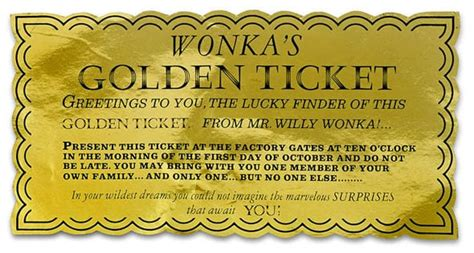 6 Golden Ticket Templates Word Excel Templates Golden Ticket Template Word