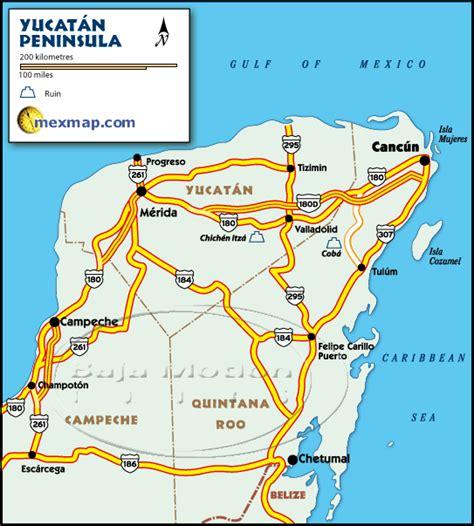 map of mexico yucatan peninsula yucatan peninsula map yucatan peninsula mexico maps