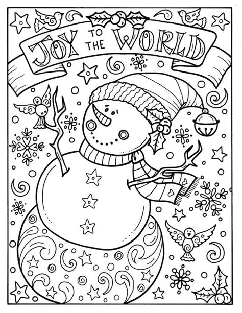 christmas joy coloring pages sketch coloring page