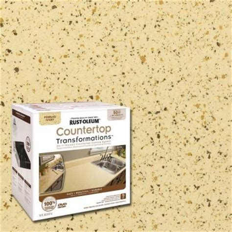 Countertop Transformation Kits by Rust Oleum Transformations 1 Qt Pebbled Ivory Large