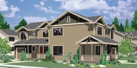corner house plans corner lot duplex house plans 3 bedroom duplex house plans d 505