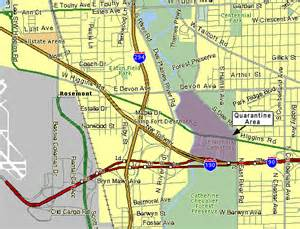 Chicago Ridge Mall Map by Asian Longhorned Beetle Gt Parkridge Infestation Map