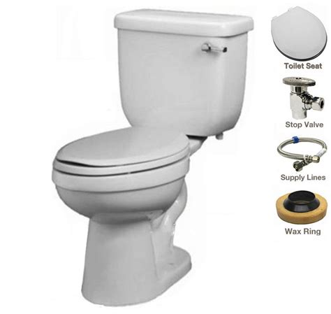 Proflo Plumbing by Proflo Pf1403twh Pf5112rmwh White Two Ada Height