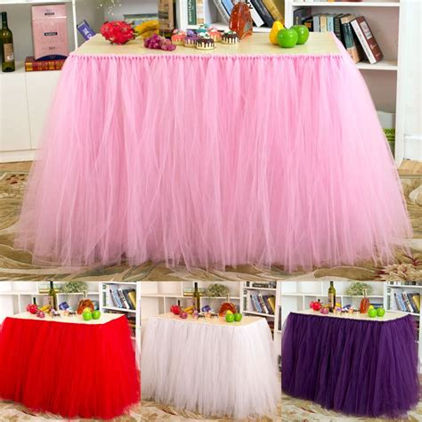 How To Make A Tulle Table Skirt by Tulle Table Skirt Princess Part Ballerina Baby