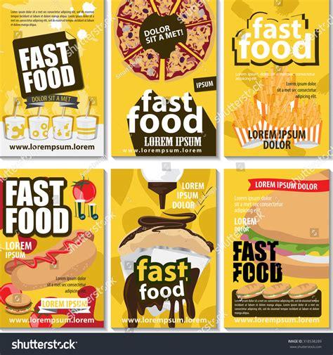 poster design kit fast food poster design set vector stock vector 318538289