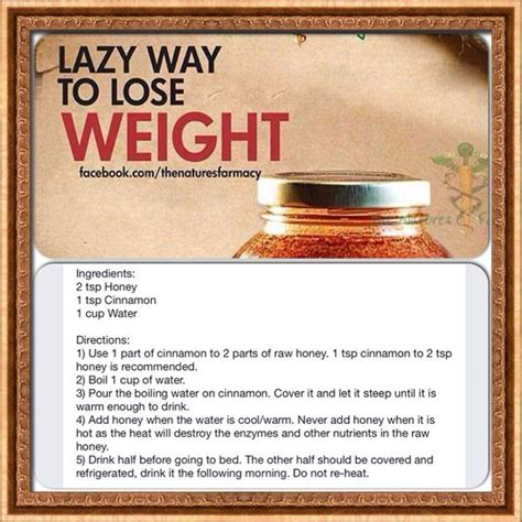 Cinnamon Honey Detox Weight Loss by Weight Lose Healthy My Jello And Drinks