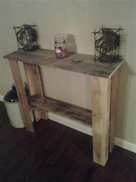 diy entryway table plans diy rustic entryway table pallet furniture plans