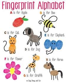 fingerprint alphabet art easy peasy fun