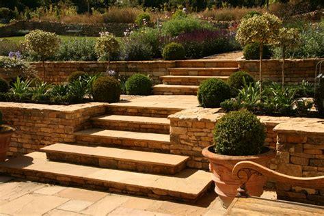 terraced backyard terraced garden landscaping near moreton in marsh gloucs designed by alison blakey