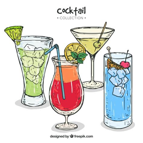 vintage cocktail clipart shoot clipart mixed drink pencil and in color shoot
