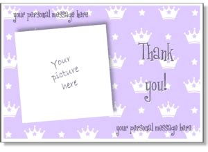 free thank you card template insert photo printable photo thank you card templates personalized