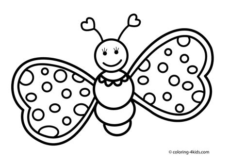 Butterfly Coloring Book Pages Coloring Pages For Kids Coloring Book Pics L