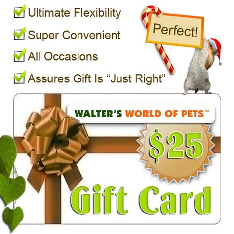 Perfect World Gift Cards - gift cards walter s world of pets