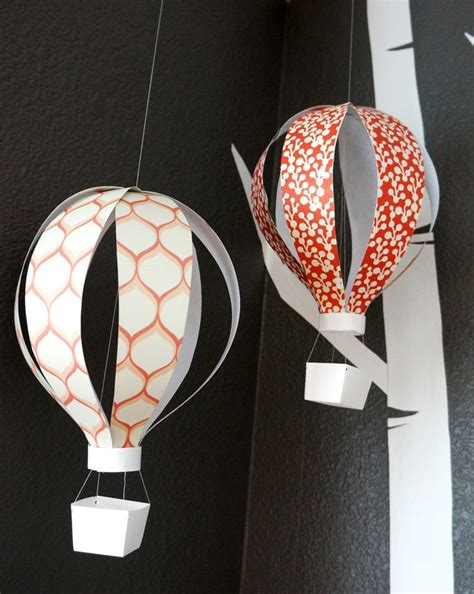 Make A Paper Balloon - hanging air balloon paper sculpture http www etsy