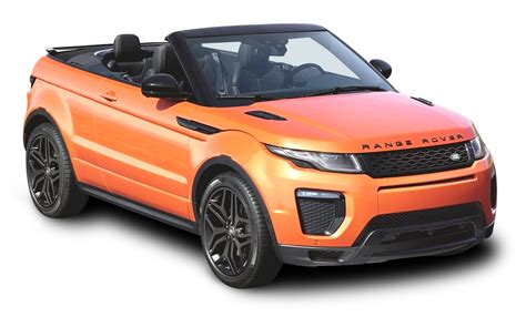 orange range rover evoque orange land rover range rover evoque convertible car png