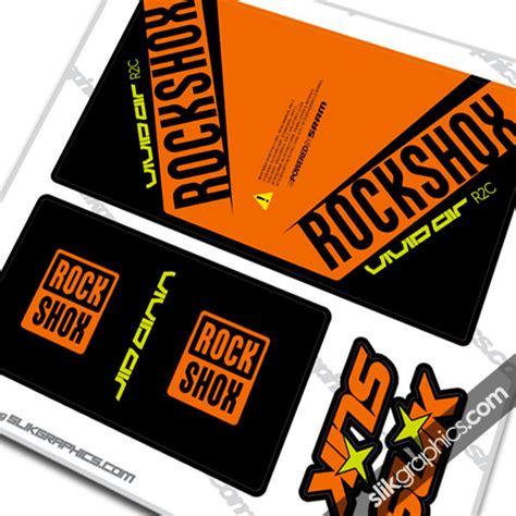 Rockshox Monarch Stickers by Rear Shock Decals Rockshox Collection Slik Graphics