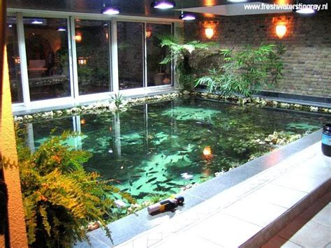 indoor fish pond inspirations modern indoor fish pond design to decoration