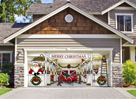 merry christmas garage door cover unique garage doors that mesmerize you with the imaginative designs homesfeed