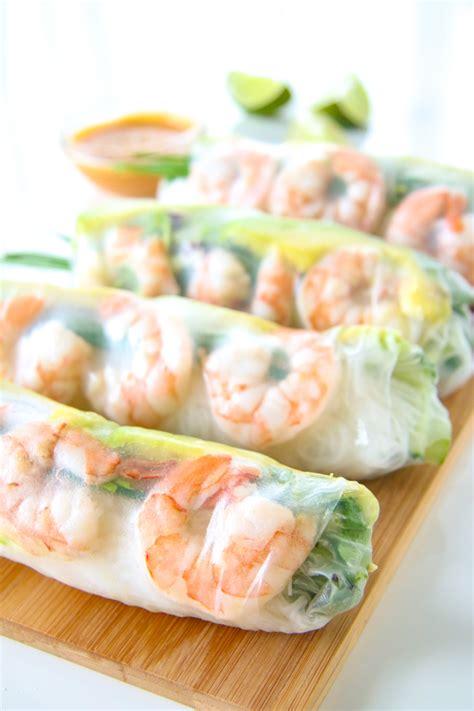Thai Kitchen Design shrimp and avocado summer rolls fresh spring rolls
