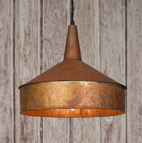 large copper pendant light classic vintage rustic mid 19th century large copper