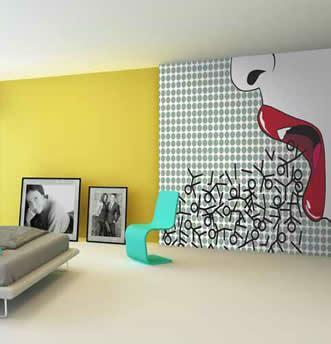 design art carta carta da parati pop art tappezzeria in stile andy warhol