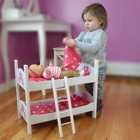 18 inch doll bunk beds bunk bed for twin dolls fits 18 inch dolls import it all