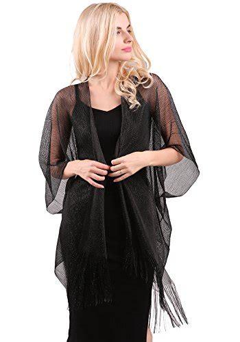 Blouse Import 25800 Tassel Blouse womens glitter open front cardigans sheer metallic import it all