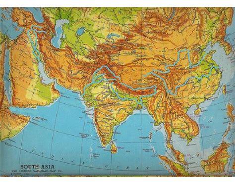 monsoon asia map monsoon asia physical map purposegames