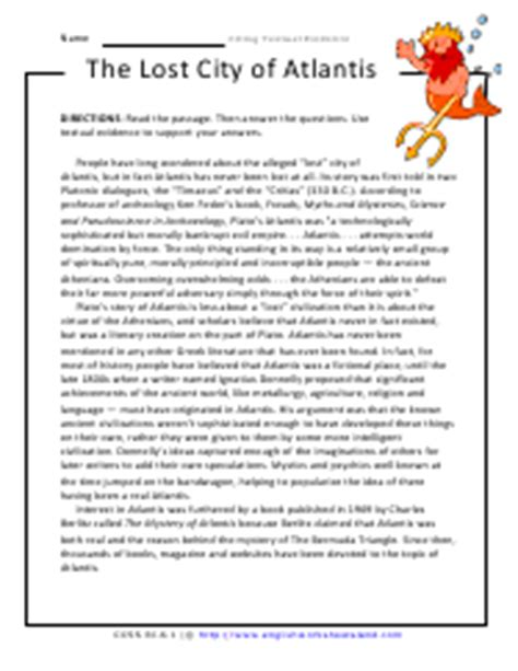 Citing Evidence Worksheet by Citing Textual Evidence Worksheets