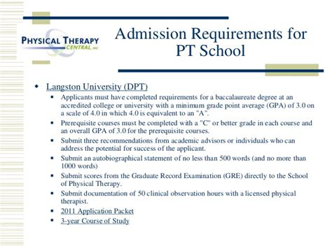 therapist requirements requirements for physical therapy degree