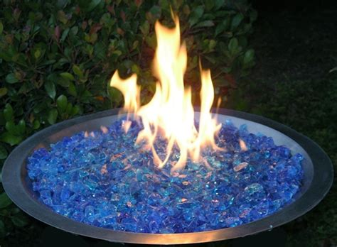 glass rock pit fireplace glass san diego